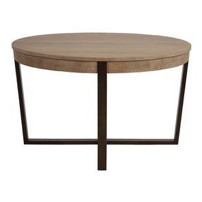 Table ronde extensible en bois et métal - Demeure - Visuel n°11