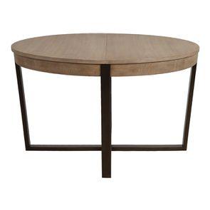 Table ronde extensible en bois et métal - Demeure - Visuel n°13