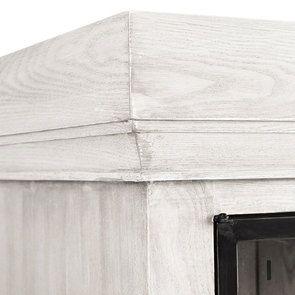 Buffet vitré en frêne blanc et acier - Demeure - Visuel n°6