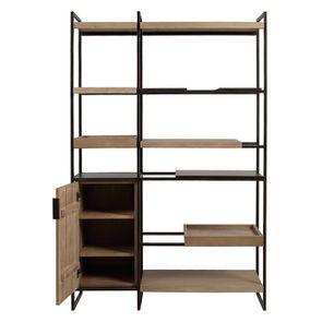 Bibliothèque en bois et acier - Demeure - Visuel n°5
