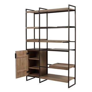 Bibliothèque en bois et acier - Demeure - Visuel n°6
