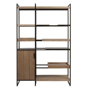 Bibliothèque en bois et métal - Demeure