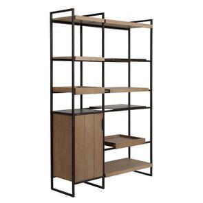 Bibliothèque en bois et acier - Demeure - Visuel n°7