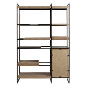 Bibliothèque en bois et acier - Demeure - Visuel n°9