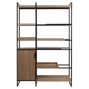 Bibliothèque en bois et acier - Demeure - Visuel n°10