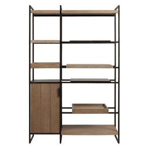 Bibliothèque en bois et acier - Demeure - Visuel n°11