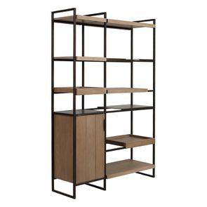 Bibliothèque en bois et acier - Demeure - Visuel n°12