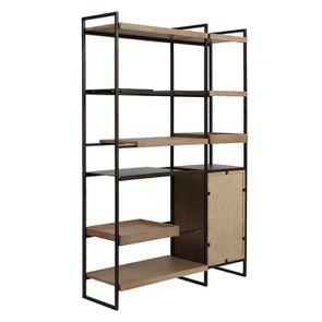 Bibliothèque en bois et acier - Demeure - Visuel n°13