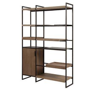 Bibliothèque en bois et acier - Demeure - Visuel n°15