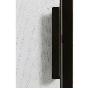Bibliothèque en frêne massif blanc et métal - Demeure - Visuel n°14