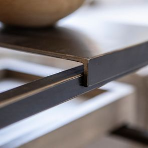 Bout de canapé en bois et métal - Demeure - Visuel n°4