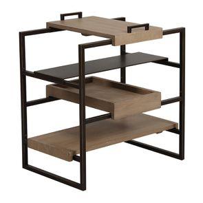 Bout de canapé en bois et métal - Demeure - Visuel n°5
