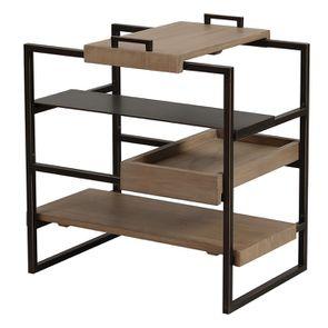 Bout de canapé en bois et métal - Demeure - Visuel n°8