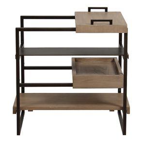 Bout de canapé en bois et métal - Demeure - Visuel n°9
