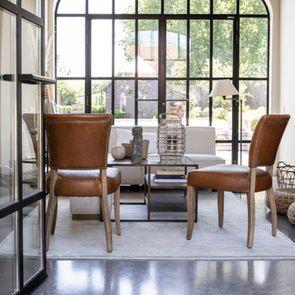 Table basse contemporaine en bois, verre et métal - Demeure - Visuel n°6