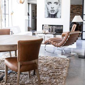 Table basse contemporaine en bois, verre et métal - Demeure - Visuel n°8