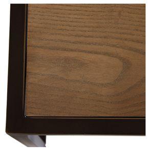 Table basse contemporaine en bois, verre et métal - Demeure - Visuel n°15