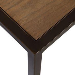 Table basse contemporaine en bois, verre et métal - Demeure - Visuel n°16