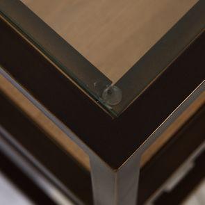 Table basse contemporaine en bois, verre et métal - Demeure - Visuel n°18
