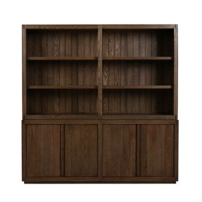 Buffet contemporain 4 portes 2 tiroirs en frêne - Basale