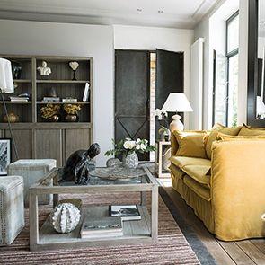 Buffet contemporain 4 portes 2 tiroirs en frêne naturel fumé - Basale - Visuel n°3
