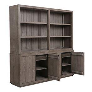 Buffet contemporain 4 portes 2 tiroirs en frêne naturel fumé - Basale - Visuel n°5