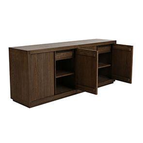Buffet bas contemporain 4 portes 2 tiroirs en frêne - Basale - Visuel n°4