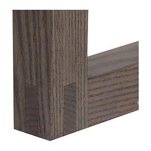 Console contemporaine en frêne massif naturel fumé - Basale - Visuel n°4