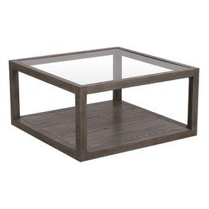 Table basse carrée contemporaine en frêne naturel fumé - Basale - Visuel n°5