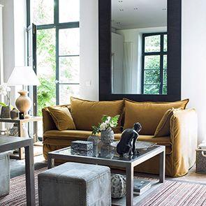 Bout de canapé contemporain en verre et frêne naturel fumé - Basale - Visuel n°5