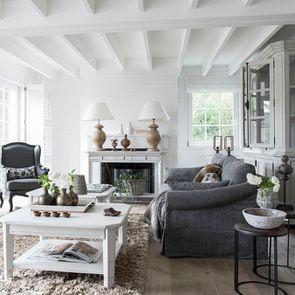 Table basse carrée avec rangements lin vieilli - Bruges - Visuel n°3
