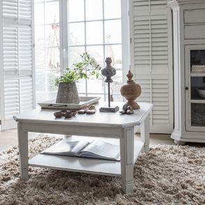 Table basse carrée avec rangements lin vieilli - Bruges - Visuel n°4
