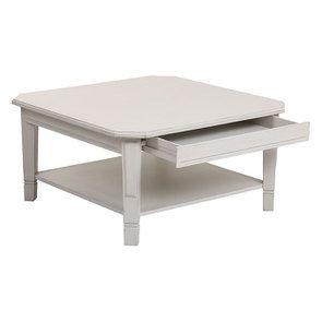 Table basse carrée avec rangements lin vieilli - Bruges - Visuel n°11