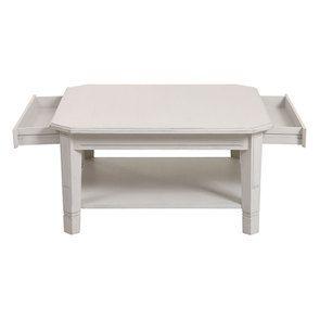 Table basse carrée avec rangements lin vieilli - Bruges - Visuel n°12