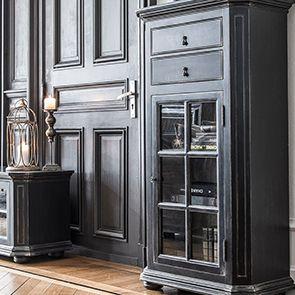 Meuble de rangement vitré noir - Bruges - Visuel n°3