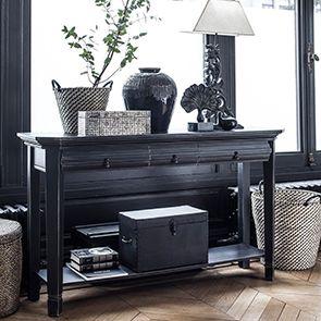 Console noire 3 tiroirs - Bruges