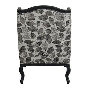 Fauteuil bergère en frêne noir et tissu feuilles noires - Bruges - Visuel n°6