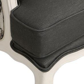 Fauteuil bergère en frêne blanc et tissu feuilles noires - Bruges - Visuel n°9