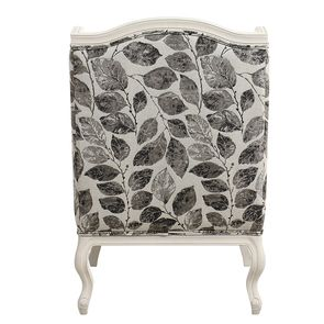 Fauteuil bergère en frêne blanc et tissu feuilles noires - Bruges - Visuel n°5