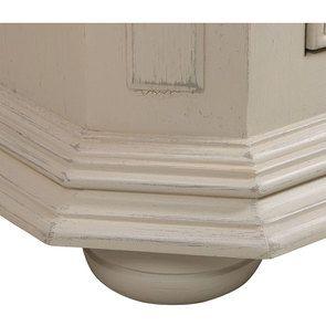 Vitrine 1 porte blanche - Bruges