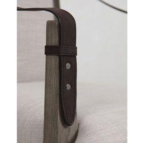 Fauteuil de table en frêne et accoudoirs en cuir - Voyages - Visuel n°7