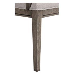 Fauteuil de table en frêne et accoudoirs en cuir - Voyages - Visuel n°8