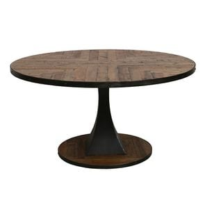 Table à manger ronde industrielle D150 cm - Manufacture - Visuel n°1