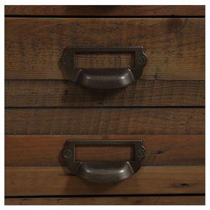 Bibliothèque industrielle en bois recyclé naturel grisé et métal - Manufacture - Visuel n°14