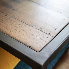 Bout de canapé industriel en bois recyclé et métal - Manufacture - Visuel n°8