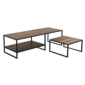 Tables basses gigognes industrielles en bois recyclé - Manufacture - Visuel n°3
