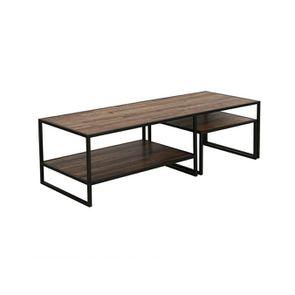 Tables basses gigognes industrielles en bois recyclé - Manufacture - Visuel n°5