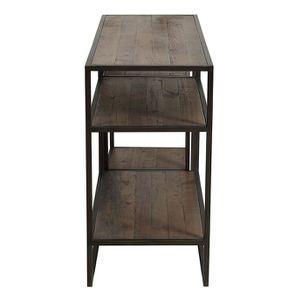 Console et bout de canapé gigognes industriels en bois recyclé naturel grisé - Manufacture - Visuel n°6