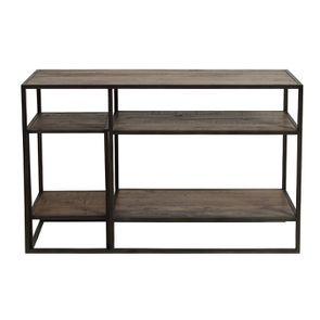 Console et bout de canapé gigognes industriels en bois recyclé naturel grisé - Manufacture - Visuel n°8