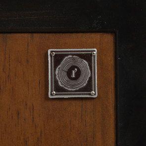 Bibliothèque à cases industrielle en bois recyclé et métal - Manufacture - Visuel n°12